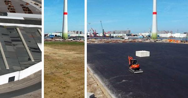 Wijngaard Natie kiest voor duurzaam en verbouwt terminal met afbraakmaterialen